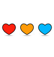 heart icon isolated on white background set of vector image vector image