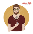 Hipster Style Template vector image