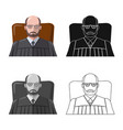 isolated object of law and lawyer sign set of law vector image vector image