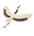 japanese crane bird isolate on a white background vector image