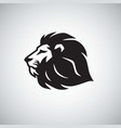 lion icon logo template vector image vector image