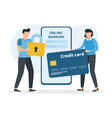 online banking concept secure payments and vector image