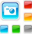 Photo button vector image vector image