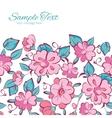 Pink Blue Kimono Flowers Horizontal Frame vector image vector image