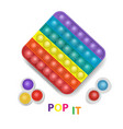 popit and simple dimple colorful rainbow fidget vector image vector image