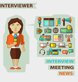 Profession of people Flat infographic Woman vector image