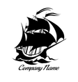 Sail boat logo icon vector image vector image