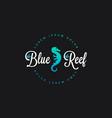 seahorse reef logo seahorse icon on black vector image