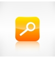 Search icon Loupe symbol Application button vector image