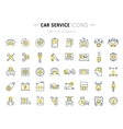 Set Flat Line Icons Car Service vector image