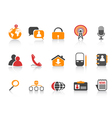 simple social media icons vector image vector image