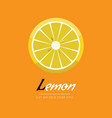 sliced lemon icon flat color style healthy food vector image