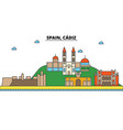spain cadiz city skyline architecture buildings vector image vector image