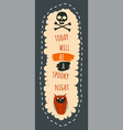 spooky night on halloween party for celebration vector image vector image