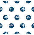 stylized palm trees blue circled style seamless vector image vector image