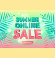 summer online sale promotion banner vector image vector image