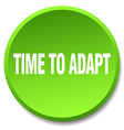 time to adapt green round flat isolated push vector image vector image