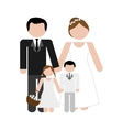 traditional family icon image vector image vector image