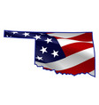 united states oklahoma full american flag map vector image vector image