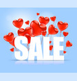 valentines day advertising sales white sale word vector image vector image