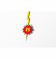 versus background vs letters concept battle vector image vector image