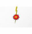 versus background vs letters concept battle vector image