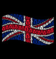 waving great britain flag pattern of financial vector image