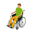 wheelchair user disabled handicapped people icon vector image