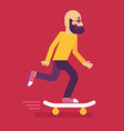 male character in flat style vector image
