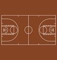brown basketball court vector image