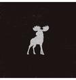 Moose icon Letterpress effect Retro moose vector image