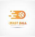 volleyball club logo vector image