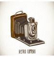 Vintage Card with Retro Camera vector image