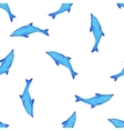 Watercolor dolphin pattern vector image