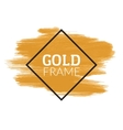 Gold Shining Acrylic Paint Stain Hand Drawn vector image
