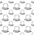 seamless pattern with toques vector image
