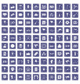100 events icons set grunge sapphire vector image vector image