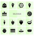 14 delicious icons vector image vector image