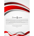Abstract red and grey wavy corporate flyer design vector image vector image