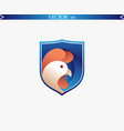 abstract rooster logo vector image vector image