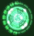 Abstract technology green background with circles vector image