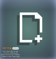 Add file icon On the blue-green abstract vector image vector image