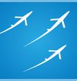 airplane symbol design vector image vector image