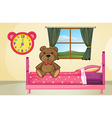 Bear on Bed vector image vector image