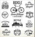 bicycle badges and labels vector image