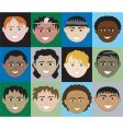 boys faces vector image vector image