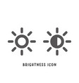 brightness icon simple flat style vector image vector image