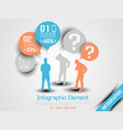business man infographic option three 10 orange vector image vector image