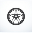 car wheel icon vector image