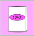 card with the romantic inscription love greeting vector image